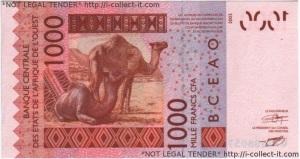 Burkina Faso 1000 Franc 2003.300dpi